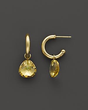 Citrine Medium Hoop Earrings in 14K Yellow Gold - 100% Exclusive