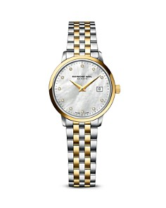 Raymond Weil - Toccata Two-Tone Stainless Steel and PVD Watch with Diamonds, 29mm