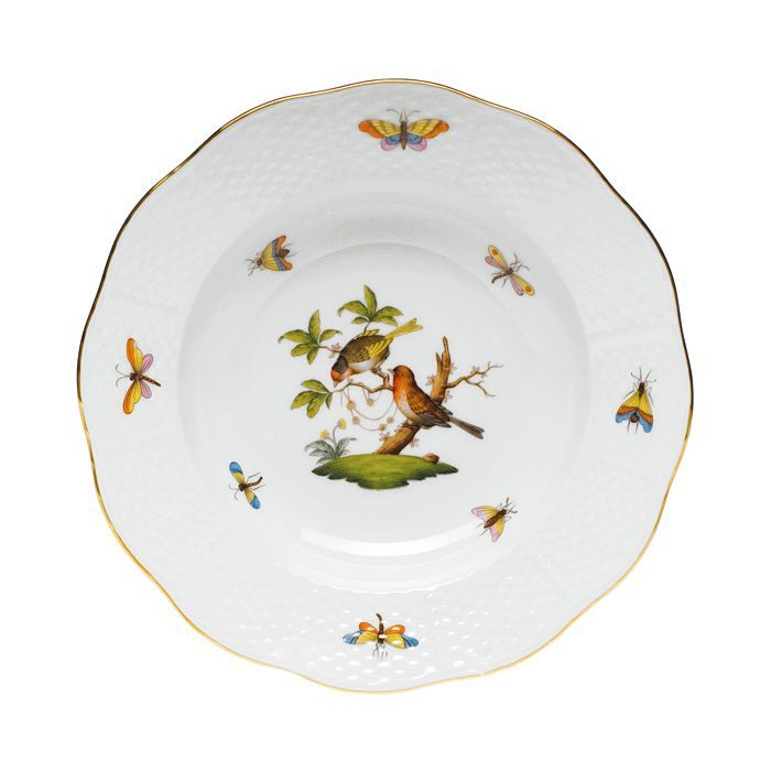 Herend - Rothschild Bird Rimmed Soup Bowl, Motif #10
