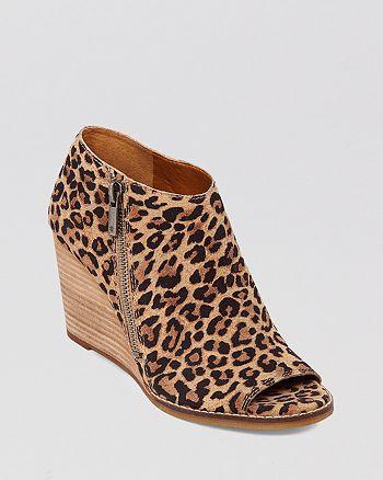 77c87feae34e Lucky Brand - Peep Toe Wedge Booties - Jaspah