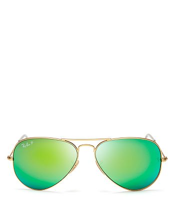 Ray-Ban - Unisex Original Polarized Brow Bar Aviator Sunglasses, 58mm