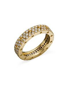 Roberto Coin 18K Yellow Gold Pois Moi Diamond Pavé Ring - Bloomingdale's_0