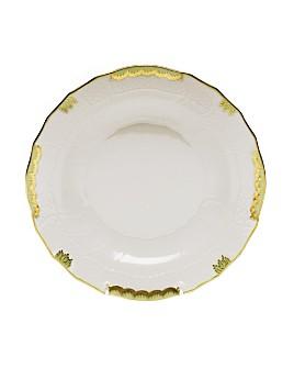 Herend - Princess Victoria Green Dessert Plate