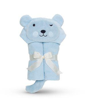 Elegant Baby Infant Boys' Bear Bath Wrap