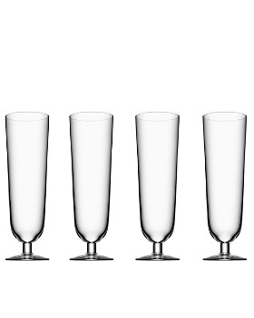 Orrefors - Orrefors Beer Collection Pilsner Glass, Set of 4