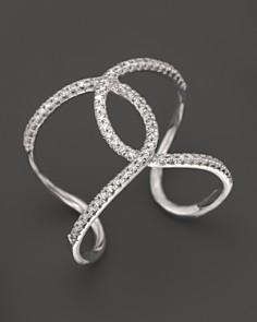 KC Designs - KC Designs Diamond Interlocking Ring in 14K White Gold, .24 ct. t.w.