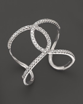 KC Designs - KC Designs Diamond Interlocking Ring in 14K White Gold, .24 ct. t.w.