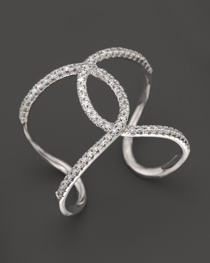 KC Designs - Diamond Interlocking Ring in 14K White Gold, .24 ct. t.w.