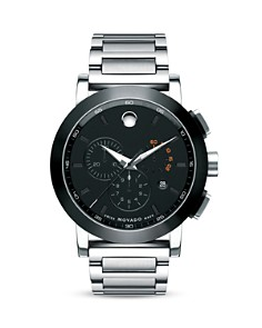 Movado - Movado Museum Sport™ Chronograph Stainlees Steel Watch, 44mm