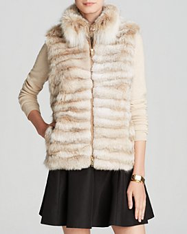 Maximilian Furs - Lynx Fur Vest with Stand Collar - 100% Exclusive