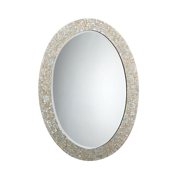 Jamie Young - Large Oval Mirror, Mother of Pearl