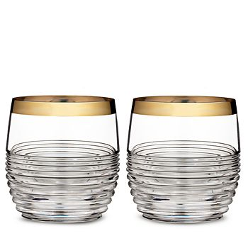 Waterford - Mixology Mad Men Edition Circon Double Old-Fashioned Glass, Set of 2