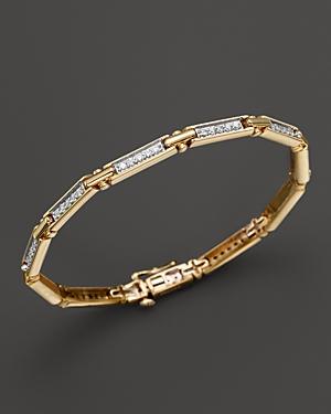 Diamond Rectangular Link Bracelet in 14K Yellow Gold, 1.0 ct. t.w. - 100% Exclusive