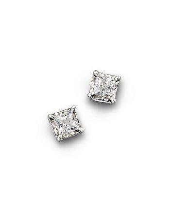 Bloomingdale's - Diamond Princess Cut Stud Earrings, 1.0 ct. t.w.- 100% Exclusive