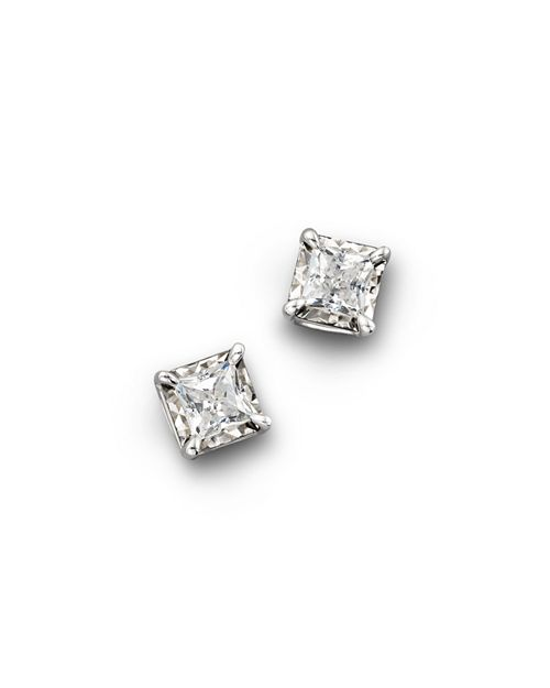 Bloomingdale S Diamond Princess Cut Stud Earrings 25 Ct T W 1 0