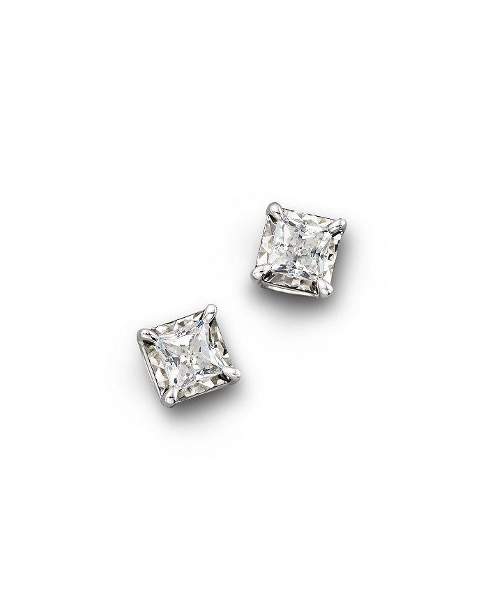 Bloomingdale's - Diamond Princess Cut Stud Earrings, .25 ct. t.w.-1.0 ct. t.w. - 100% Exclusive
