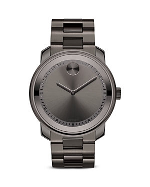Movado Bold Ion Plated Gunmetal Gray Stainless Steel Watch, 42.5mm