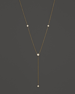 Diamond Station Y Necklace in 14K Yellow Gold, .50 ct. t.w. - 100% Exclusive