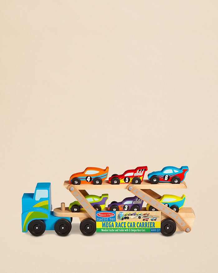 Melissa & Doug - Mega Race Car Carrier - Ages 3+