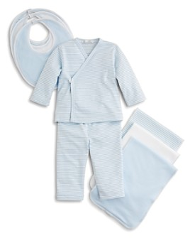Kissy Kissy - Boys' Wrap-Front Shirt & Pants, Solid & Stripe Bib 3 Pack & More - Baby
