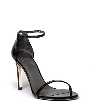 Stuart Weitzman Nudistsong High Heel Patent Ankle Strap Sandals