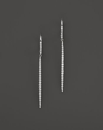 Meira T - 14K White Gold Diamond Icicle Drop Earrings