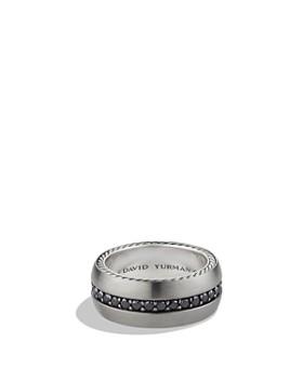 David Yurman - Streamline Wide Band Ring with Black Diamonds