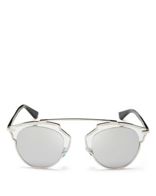 $Dior Women's So Real Mirrored Sunglasses, 48mm - Bloomingdale's