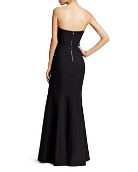 Jill Jill Stuart - Deco Neckline Strapless Gown