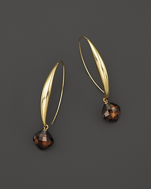 Smoky Quartz Drop Earrings in 14K Yellow Gold - 100% Exclusive