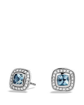 David Yurman - Petite Albion Earrings with Blue Topaz and Diamonds
