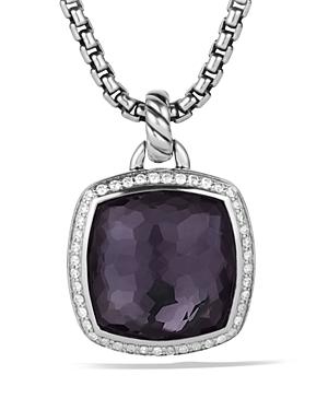 David Yurman Albion Pendant with Black Orchid with Diamonds