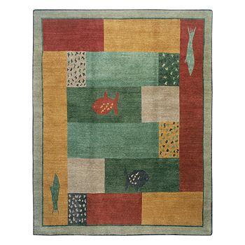 Tufenkian Artisan Carpets - Lagoon Paintbox Area Rug, 10' x 10'