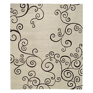 Tufenkian Artisan Carpets Zephyr White Chocolate Area Rug, 10' x 14'
