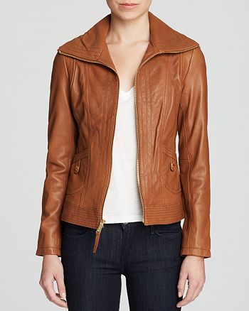 MICHAEL Michael Kors - Mizzy Wing Leather Jacket