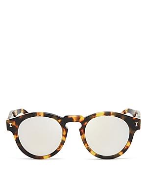 Women's Leonard Mirrored Round Sunglasses