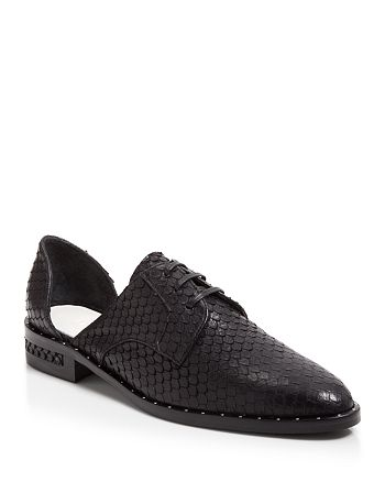 Freda Salvador - Women's Wit Fish Skin Embossed Leather D'Orsay Oxford