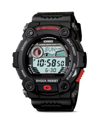 G-SHOCK BLACK TIDE & MOON GRAPH WATCH, 52.4MM
