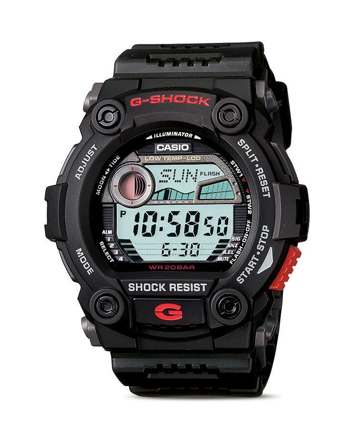 G-Shock - Black Tide & Moon Graph Watch, 52.4mm