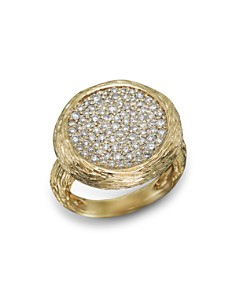 Bloomingdale's - Pavé Diamond Circle Statement Ring in 14K Yellow Gold, .90 ct. t.w. - 100% Exclusive