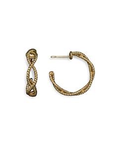 Roberto Coin 18K Yellow Gold Twisted Hoop Earrings - Bloomingdale's_0