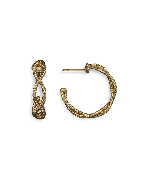Roberto Coin - 18K Yellow Gold Twisted Hoop Earrings