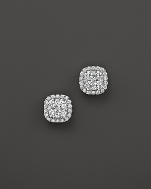 Diamond Cluster Stud Earrings in 14K White Gold, 2.0 ct. t.w. - 100% Exclusive