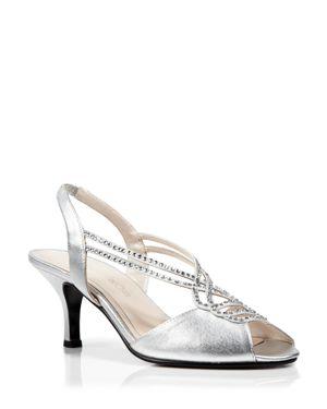 Caparros Open Toe Slingback Evening Sandals - Philomena Mid Heel
