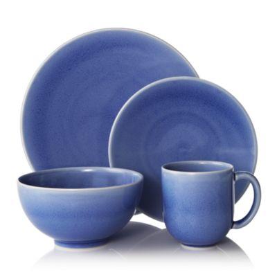 Tourron Blue Chardon Dessert Plate