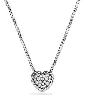 David Yurman - Châtelaine Heart Pendant Necklace with Diamonds