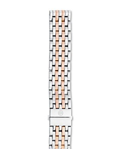 MICHELE - Deco Two-Tone Stainless Steel & Rose Gold 7-Link Watch Bracelet, 16-18mm