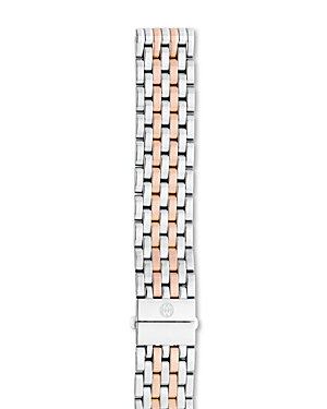 Michele Deco/Deco Madison Two-Tone Stainless Steel & Rose Gold 7-Link Watch Bracelet, 16-18mm
