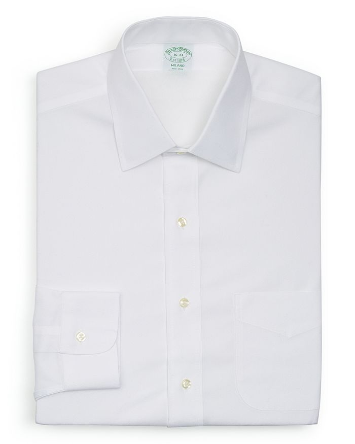 Brooks Brothers - Solid Non–Iron Dress Shirt - Milano Fit