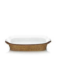 The French Chefs Maria Rectangular Roaster with Rattan Server - Bloomingdale's_0